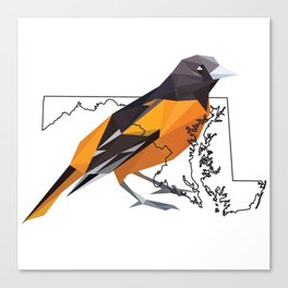 Maryland – Baltimore Oriole Canvas Print