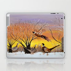 Pheasants in the sunrise Laptop & iPad Skin