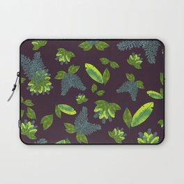 Leaf print with deep wine background #leafprint #moody Laptop Sleeve