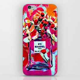 No 5 Pink Colored iPhone Skin