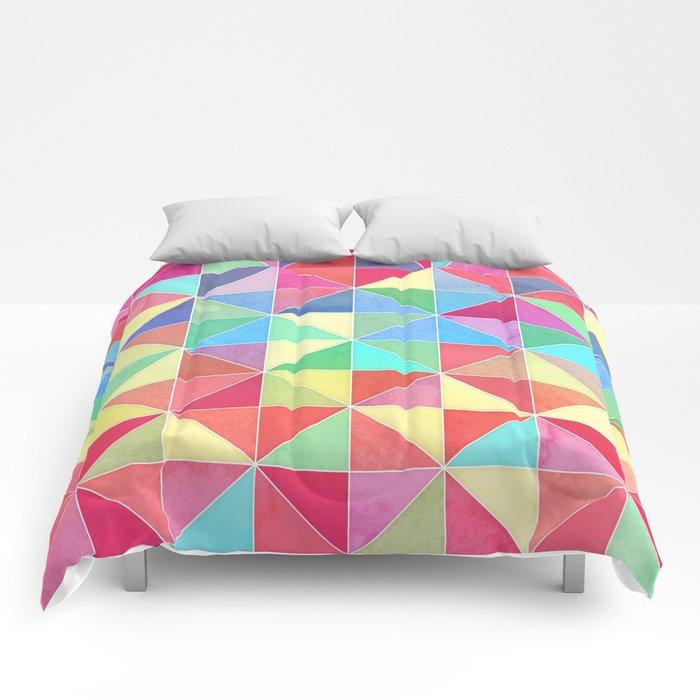 Rainbow Prisms Comforters