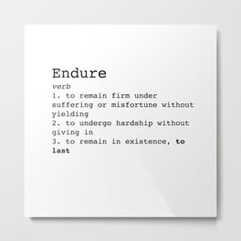 Endure Metal Print
