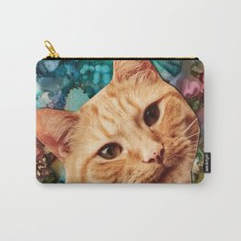Orange Tabby Cat Carry-All Pouch