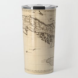 Islands of Cuba and Jamaica Map (1788) Travel Mug