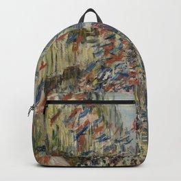 Claude Monet - The Rue Montorgueil In Paris. Celebration Of June 30 Backpack