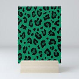 LEOPARD PRINT in GREEN | Collection : Leopard spots – Punk Rock Animal Print Mini Art Print