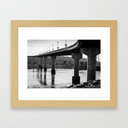 Under the Big Dam Bridge Framed Art Print