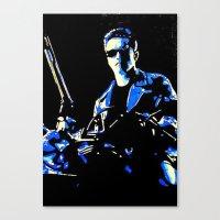 terminator Canvas Prints featuring Terminator  by Pop Artist