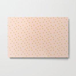 Polka Dot on pink, furniture, apparel and bag Metal Print