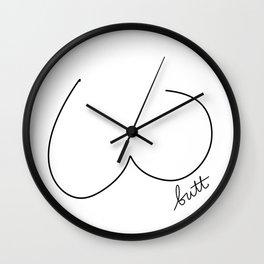 Butt Art | White Wall Clock