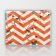 Peeling Chevrons Orange Laptop & iPad Skin