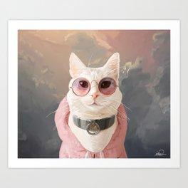 Fashion Portrait Cat Art Print