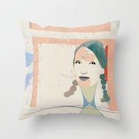elsa Throw Pillows featuring Elsa by John Murphy