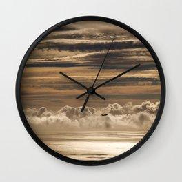 Creme Brulee Sky Wall Clock