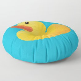 Rubber Duck polygon art Floor Pillow
