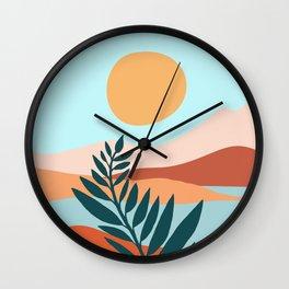 Mediterranean Summer - Maximal Landscape Illustration Wall Clock
