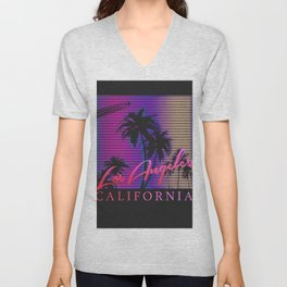 Los Angeles California Unisex V-Neck