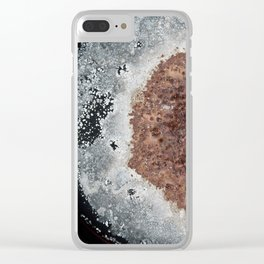 Abstract Rust Textures Clear iPhone Case