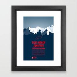 Eiger Mönch Jungfrau Framed Art Print