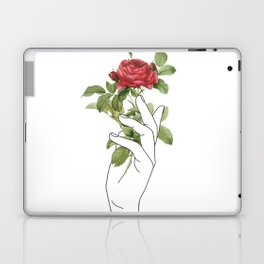 Flower in the Hand Laptop & iPad Skin