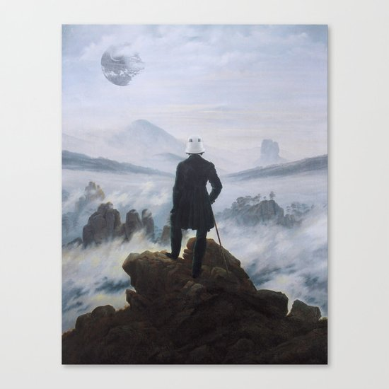 "Homage to Caspar David Freidrich, ""Trooping above the Sea of Fog"" Canvas Print"