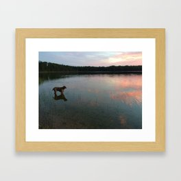 silver lake reflection Framed Art Print