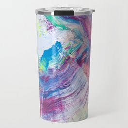 Neon Wave Travel Mug