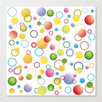 circles Canvas Prints featuring Circles by victimArte