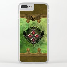 Wonderful gothic design with cross Clear iPhone Case