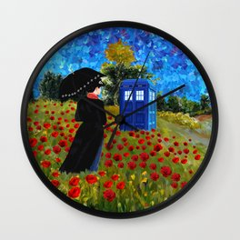 mary poppins and phone box at rose field iPhone 4 4s 5 5c 6, pillow case, mugs and tshirt Wall Clock