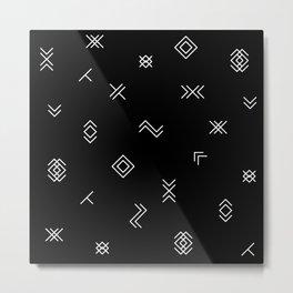 Lost Simbols Metal Print