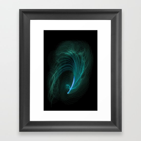Designer feather Framed Art Print