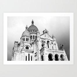 French Sacre Coeur church in Paris Art Print