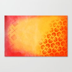 Firery Flowering Canvas Print