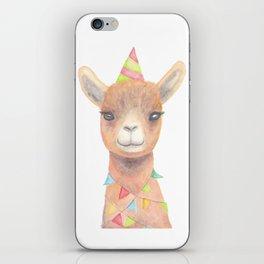Birthday Llama iPhone Skin