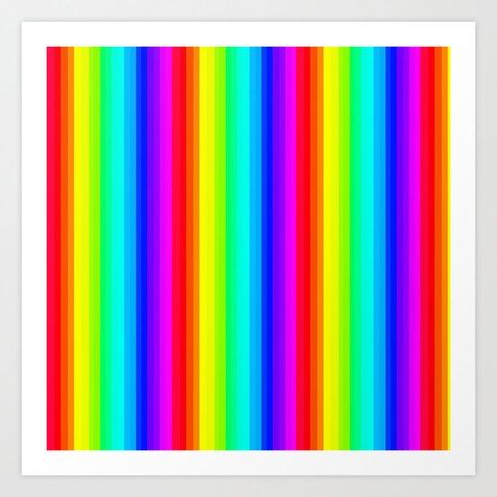 Rainbow Line #society6 Art Print
