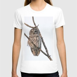 Barred Owl visitor on New Years Eve T-shirt
