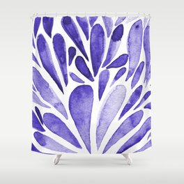 Watercolor artistic drops - electric blue Shower Curtain