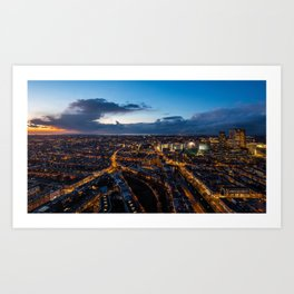 The Hague By Night Art Print
