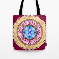 spires Tote Bags featuring Castle Spires, kaleidoscope by designoMatt