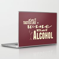 alcohol Laptop & iPad Skins featuring NOTES OF ALCOHOL by Sandhill