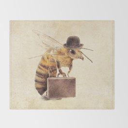 Worker Bee Throw Blanket