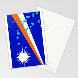 Marshall Islands Flag with Marshallese Map Stationery Cards
