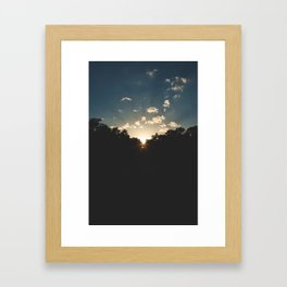 A Texas Hill Country Sunset Framed Art Print