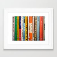 literature Framed Art Prints featuring Literature by Vanessa Flores