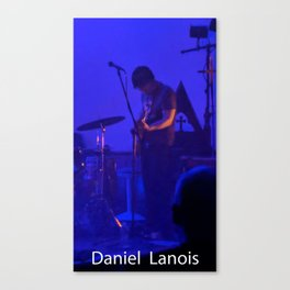 the man on the guitar Canvas Print