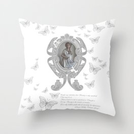 Looking to the Countess Throw Pillow