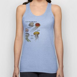 Jellyfish of the World Unisex Tank Top