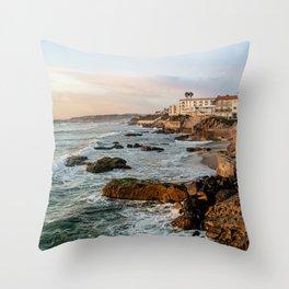 Sunset Ocean Beach Throw Pillow