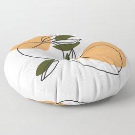 The peaches - Modern abstract art illustration Floor Pillow